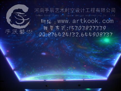 科技馆墙体彩绘,隐形壁画,荧光壁画,宇宙星空墙绘,